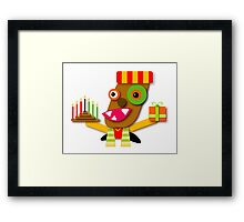 Kwanzaa Celebration Kawaii Cartoon Framed Print
