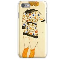 Egon Schiele - Standing Woman in a Patterned Blouse (1912)  iPhone Case/Skin