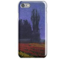 moon rise over the tulip fields iPhone Case/Skin
