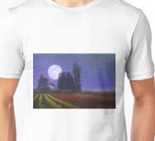 moon rise over the tulip fields Unisex T-Shirt