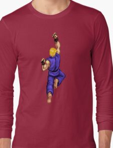 Blue Ken Shoryuken Long Sleeve T-Shirt
