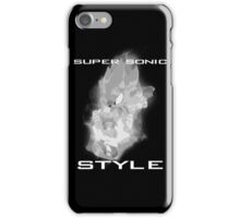 Super Sonic Style (Grayscale) iPhone Case/Skin