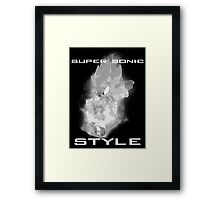 Super Sonic Style (Grayscale) Framed Print
