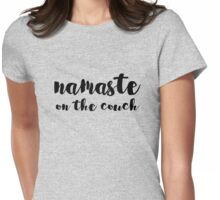 namaste on the couch Womens Fitted T-Shirt