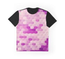 Abstraction #148 Purple and White Blocks Graphic T-Shirt