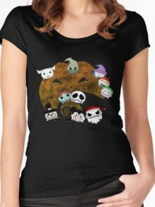 The Nightmare Before  Christmas   Women's Fitted Scoop T-Shirt