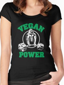 Vegan Power  Women's Fitted Scoop T-Shirt