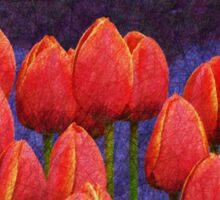 janes tulips Sticker