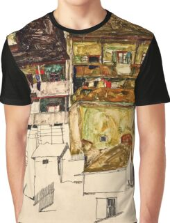 Egon Schiele - Old Houses in Krumau, 1914 (1914)  Graphic T-Shirt