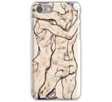 Egon Schiele - Naked Girls Embracing (1914)  iPhone Case/Skin