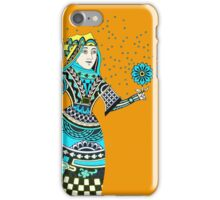 Queen Running with Magic Flower iPhone Case/Skin