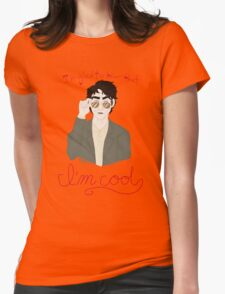 You're a Cool Guy but you're not pulling your weight in ze flat... Womens Fitted T-Shirt