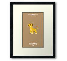 Simba Illustration Framed Print