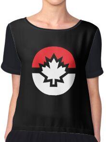 Canada Pokemon Logo Pokeball Chiffon Top