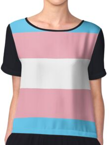 Transgender Pride Flag Chiffon Top