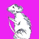 MOUSE IN PINK by Hares & Critters