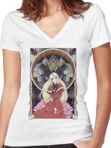 Kudelia - Hope for the Rebellion  Women's Fitted V-Neck T-Shirt
