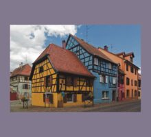 Colorful Half-Timbered Buildings Kids Tee