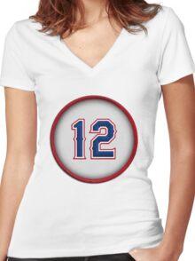 12 - Roogie (alt version) Women's Fitted V-Neck T-Shirt
