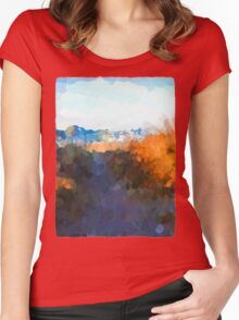 Glimpse of the Beach 2 Women's Fitted Scoop T-Shirt