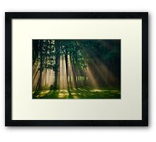 Heaven's Light Sunrise Landscape Framed Print