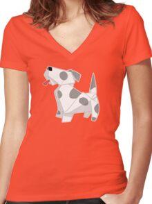 Dog Ear Women's Fitted V-Neck T-Shirt
