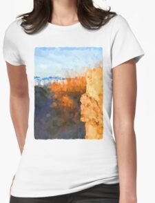 Glimpse of the Beach 3 Womens Fitted T-Shirt