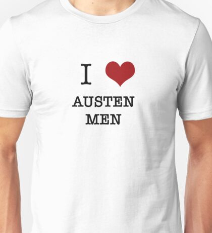 I Heart Austen Men Unisex T-Shirt