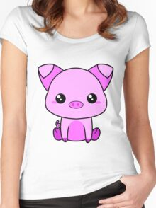 Cute Piggy Women's Fitted Scoop T-Shirt
