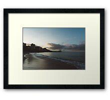 beach-morning 02 Framed Print
