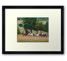 Horseback Tour of the Gettysburg Battlefield Framed Print