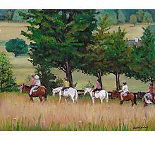 Horseback Tour of the Gettysburg Battlefield Photographic Print