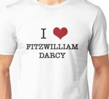 I Heart Fitzwilliam Darcy Unisex T-Shirt