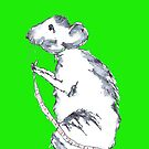 Mouse in Green by Hares & Critters