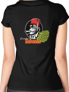 FOH Chimp Dark Colours Women's Fitted Scoop T-Shirt