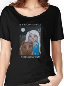 Be a Beacon for Peace - Artwork by Lulu's Heart Centered Healing Women's Relaxed Fit T-Shirt