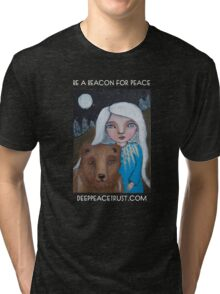 Be a Beacon for Peace - Artwork by Lulu's Heart Centered Healing Tri-blend T-Shirt