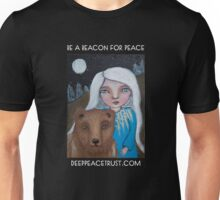Be a Beacon for Peace - Artwork by Lulu's Heart Centered Healing Unisex T-Shirt
