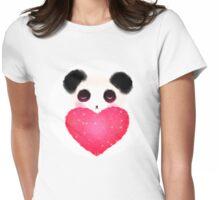 Sleepy Panda Love Womens Fitted T-Shirt