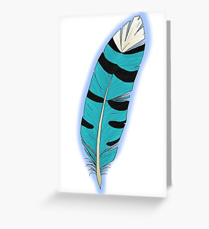 Jay's Wing feather Greeting Card