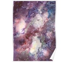 Hand painted abstract watercolor texture Galaxy Poster