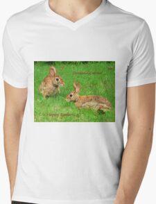 Bunnies dreaming - Happy Easter! Mens V-Neck T-Shirt