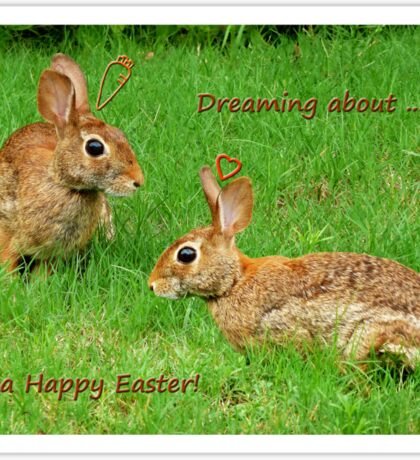 Bunnies dreaming - Happy Easter! Sticker
