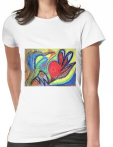 Mapping Internal Land Womens Fitted T-Shirt
