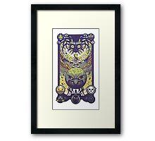 Legend of Zelda patterned art Framed Print