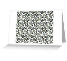 Floral seamless pattern with green fern leaves Greeting Card