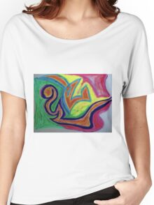 Oiled Yin and Yang Women's Relaxed Fit T-Shirt