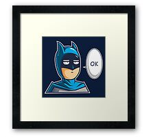 One Punch Vigilante Framed Print