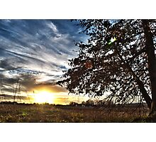 Sunset On The Farm Photographic Print