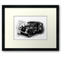 Army Ambulance at Speed Framed Print
